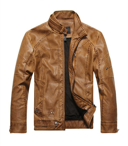 ECO leather jacket Olafs light brown - ASTREZO