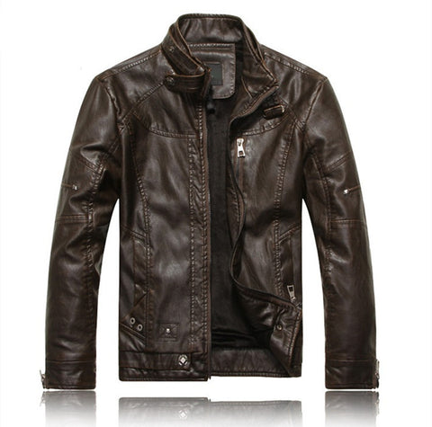ECO leather jacket Olafs coffee - ASTREZO