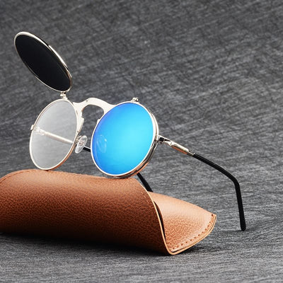 Flip Up Round Sunglasses