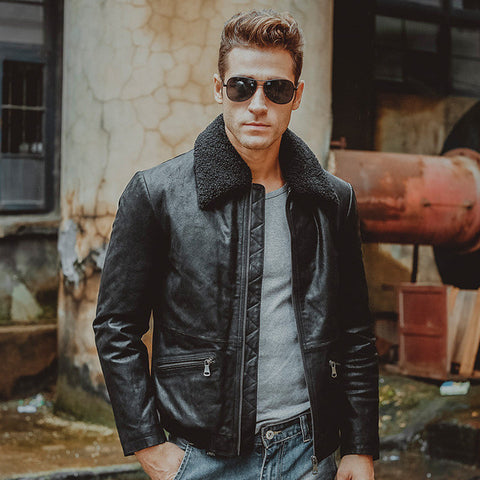 Genuine leather jacket Aviators (3 colors)