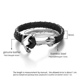 Genuine Leather Stainless Steel Bracelet Cappone