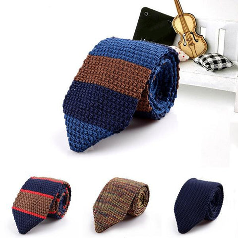 Knitted Tie (15 colors)