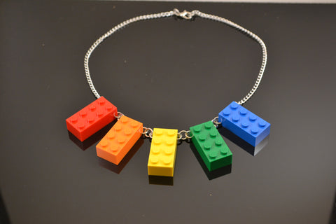 5 Brick Fan Necklace