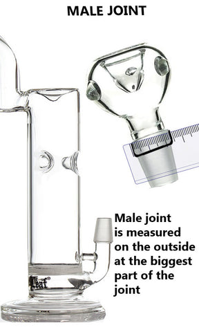 Male Joint Glass Bong