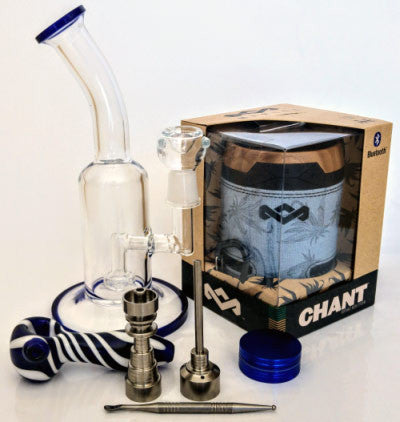 Win: Bong, Dab rig, grinder & glass spoon pipe