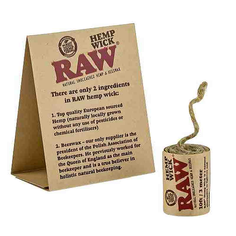 LAS020: RAW HEMP WICK 3 METER