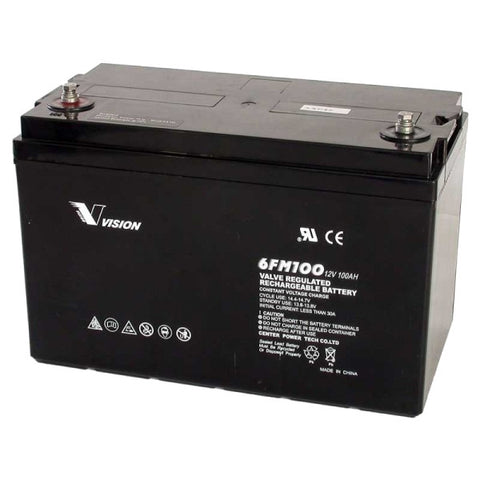 Battery Vision 12v 100Ah AGM Deepcycle