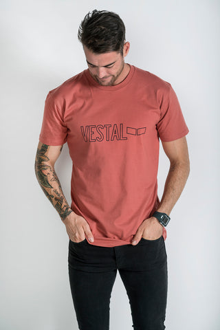 STENCIL TEE- Burnt Orange
