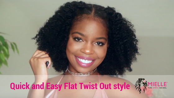 Quick and Easy Flat Twist Out style on Natural Hair FT. Mielle Organics