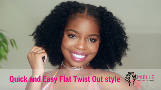 Quick And Easy Flat Twist Out Style On Natural Hair Featuring Mielle