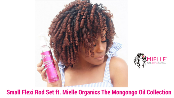 Small Flexi Rod Set using Mielle Organics The Mongongo Oil Collection