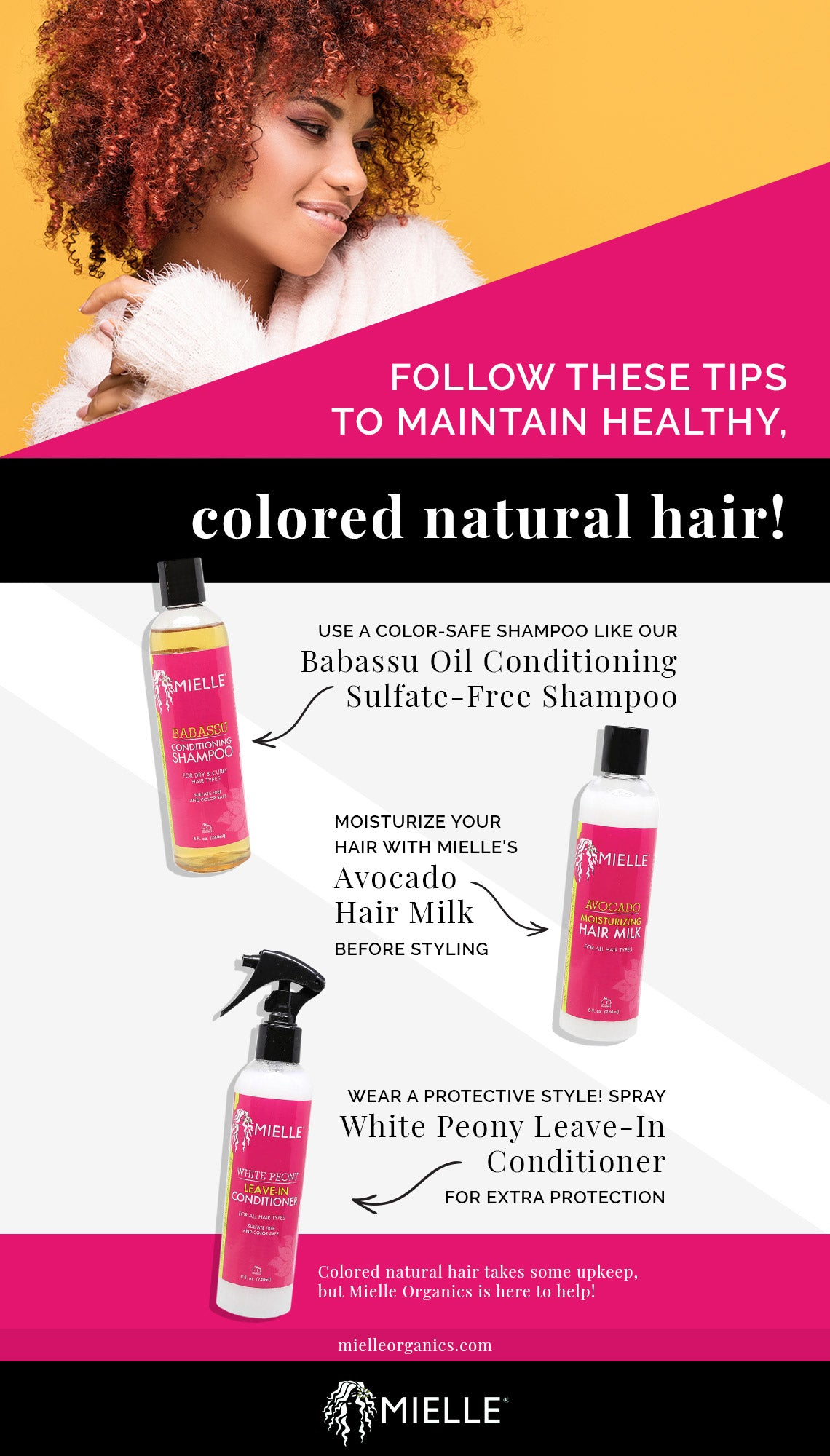 Hair Care Tips How To Care For Color Treated Natural Hair Mielle