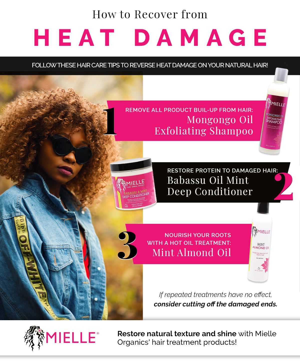 Hair Care Tips How To Recover From Heat Damage Mielle