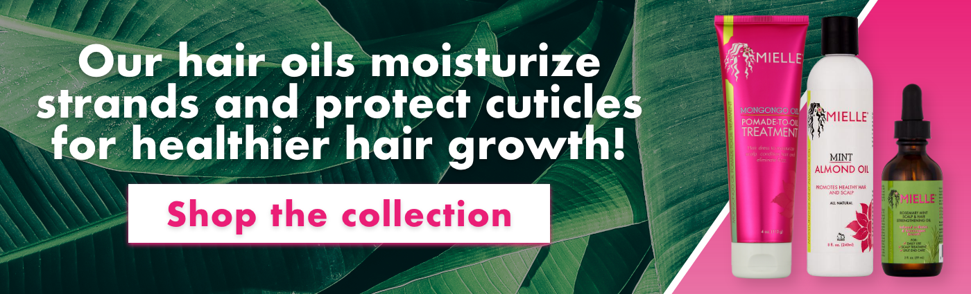 Our hair oils moisturize strands and protects cuticles for healthier hair growth. Shop the collection!