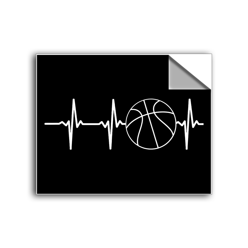 "FREE SHIPPING - ""Basketball Heartbeat"" Vinyl Decal Sticker (5"" tall) - Limited Time Only!"