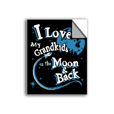 "FREE SHIPPING - ""I Love My Grandkids"" Vinyl Decal Sticker (5"" tall) - Limited Time Only!"