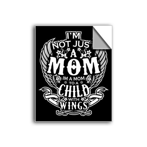 "FREE SHIPPING - ""Child With Wings - Mom"" Vinyl Decal Sticker (5"" tall) - Limited Time Only!"