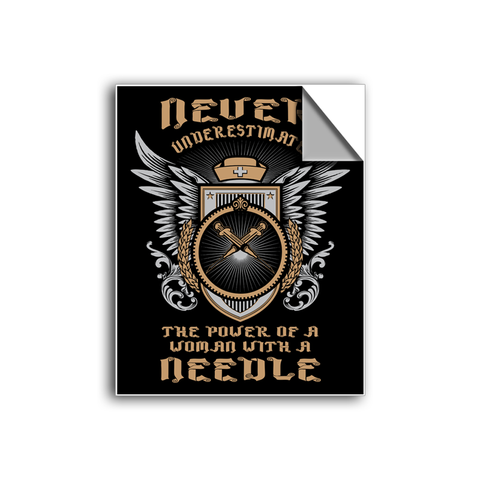 "FREE SHIPPING - ""Women With A Needle"" Vinyl Decal Sticker (5"" tall) - Limited Time Only!"
