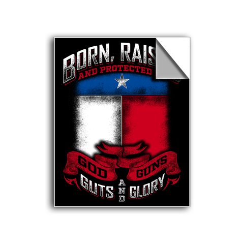 "FREE SHIPPING - ""God, Guns & Guts - TEXAS"" Vinyl Decal Sticker (5"" tall) - Limited Time Only!"