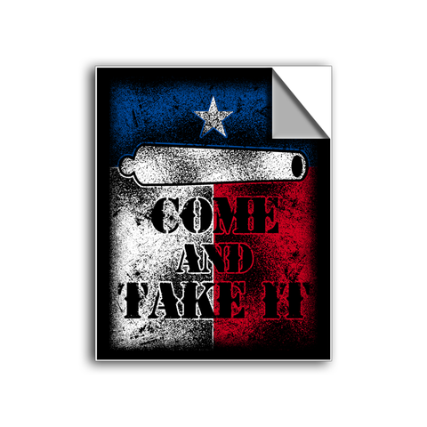 "FREE SHIPPING - ""Come And Take It - Texas"" Vinyl Decal Sticker (5"" tall) - Limited Time Only!"
