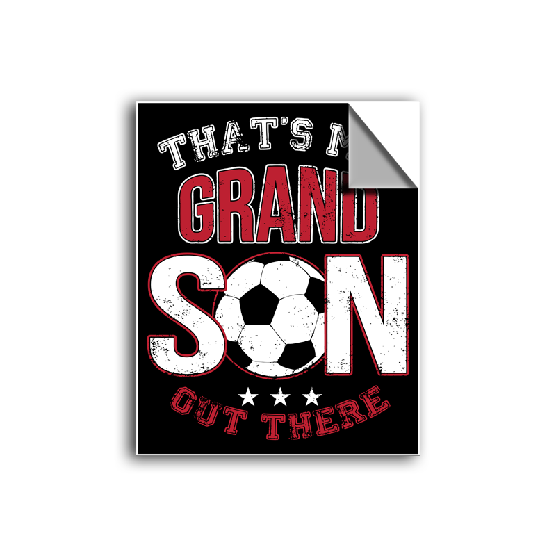 "FREE SHIPPING - ""Grandson - Soccer"" Vinyl Decal Sticker (5"" tall) - Limited Time Only!"
