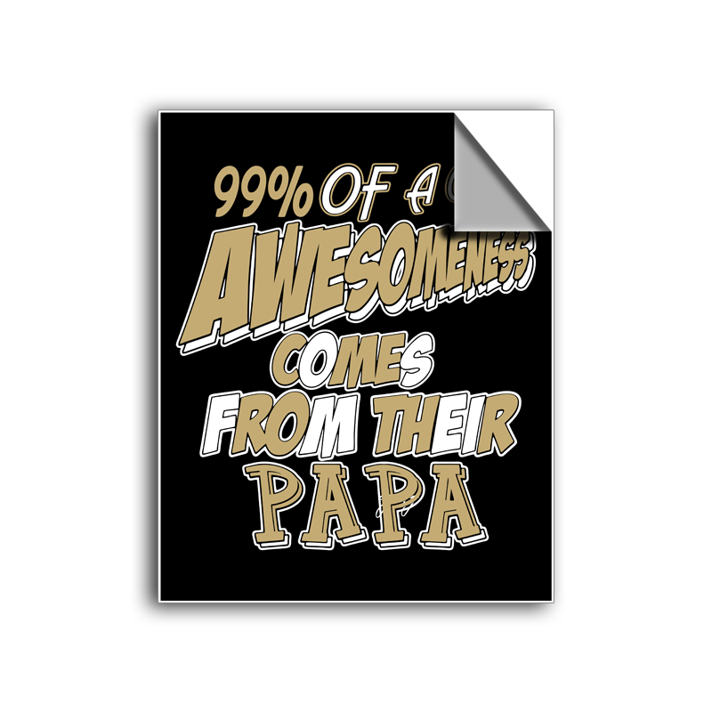 "FREE SHIPPING - ""Awesome Papa"" Vinyl Decal Sticker (5"" tall) - Limited Time Only!"