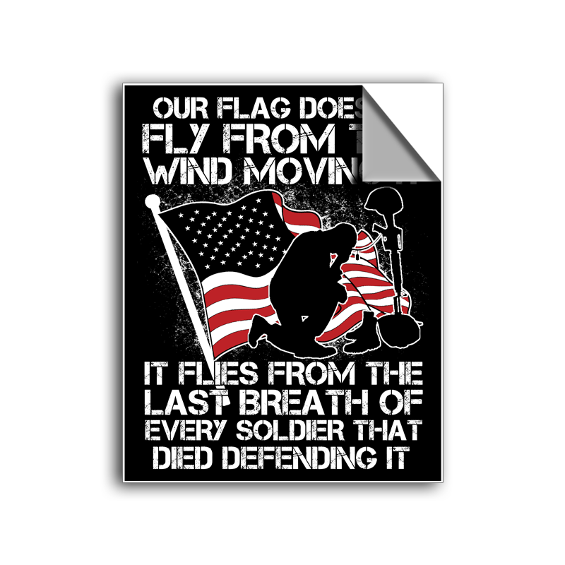 "FREE SHIPPING - ""Last Breath - Veteran"" Vinyl Decal Sticker (5"" tall) - Limited Time Only!"