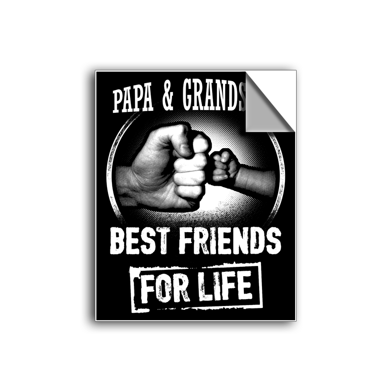 "FREE SHIPPING - ""Best Friends For Life - Papa"" Vinyl Decal Sticker (6"" tall) - Limited Time Only!"