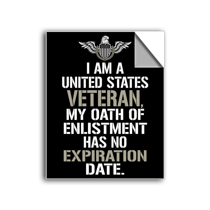 "FREE SHIPPING - ""United States Veteran"" Vinyl Decal Sticker (5"" tall) - Limited Time Only!"