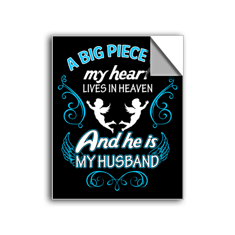 "FREE SHIPPING - ""Piece Of My Heart"" Vinyl Decal Sticker (5"" tall) - Limited Time Only!"