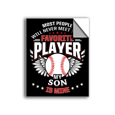 "FREE SHIPPING - ""Favorite Player - Son"" Vinyl Decal Sticker (5"" tall) - Limited Time Only!"