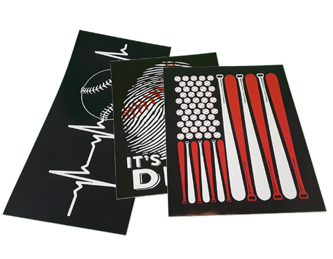 "FREE SHIPPING - ""Baseball Bundle Pack"" Vinyl Decals Sticker (6"" tall) - Limited Time Only!"