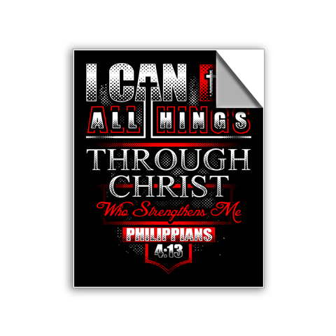 "FREE SHIPPING - ""Philippians 4:13"" Vinyl Decal Sticker (5"" tall) - Limited Time Only!"