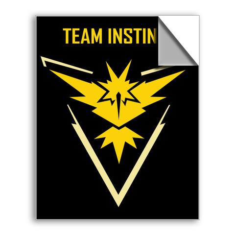 "FREE SHIPPING - ""Pokemon Team Instinct"" Vinyl Decal Sticker (6"" tall) - Limited Time Only!"
