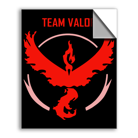 "FREE SHIPPING - ""Pokemon Team Valor"" Vinyl Decal Sticker (6"" tall) - Limited Time Only!"