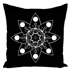 Planchette Floral Throw Pillows (Cotton) - Keven Craft Rituals