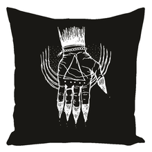 "Load image into Gallery viewer, Hand of the Occult - Throw Pillow (Cotton) 16"" x 16"""