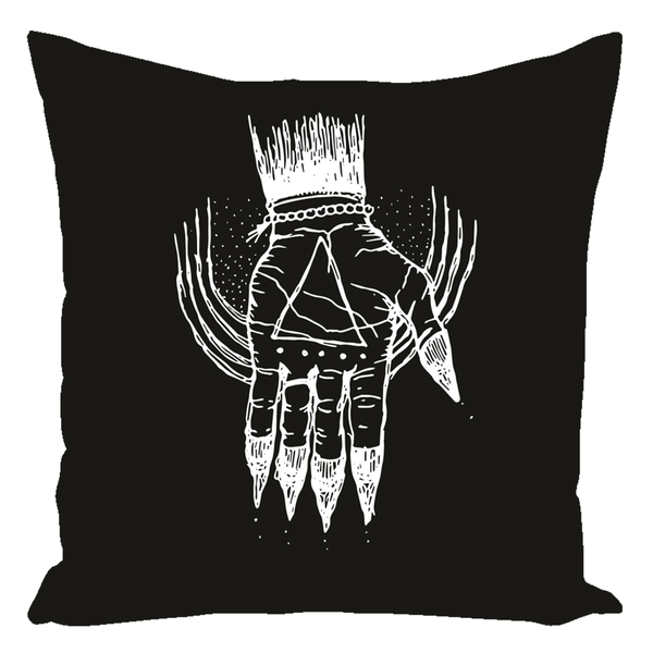 "Hand of the Occult - Throw Pillow (Cotton) 16"" x 16"" - Keven Craft Rituals"
