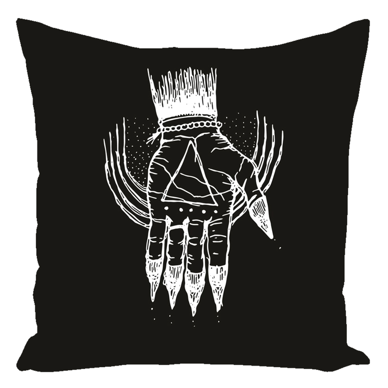 "Hand of the Occult - Throw Pillow (Cotton) 16"" x 16"""