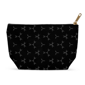 Black Geometric Pouches for Cosmetics or Travel