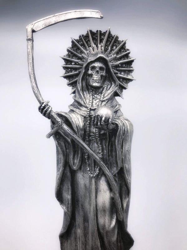Santa Muerte, Mictecacihuatl Queen of the Underworld - Deity Statue for Altars and Decor - Keven Craft Rituals