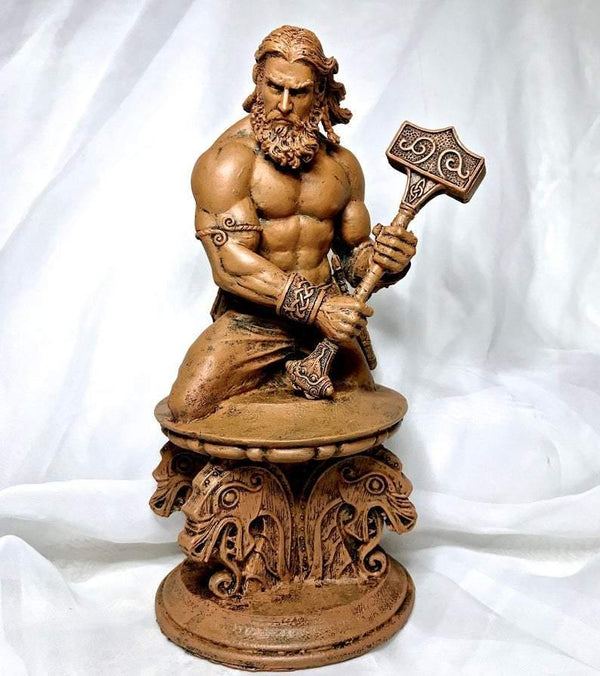 Thor Bust - Deity Statue for Altars and Decor - Keven Craft Rituals