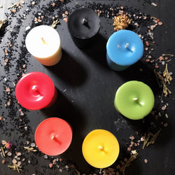 Mini Prayer, Candle Magick, Votive Candle - Unscented Vegan Soy Wax - Keven Craft Rituals