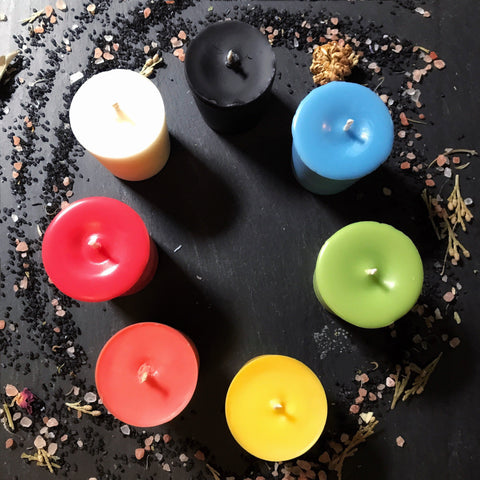 Candles - Mini Prayer, Candle Magick, Votive Candle - Unscented Vegan Soy Wax