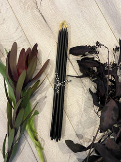 "Witches Steeples - Hand Dipped, Taper Beeswax Spell (11"" Thin) Candles - Keven Craft Rituals"