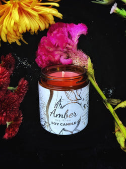 Amber Candle, Vegan Soy
