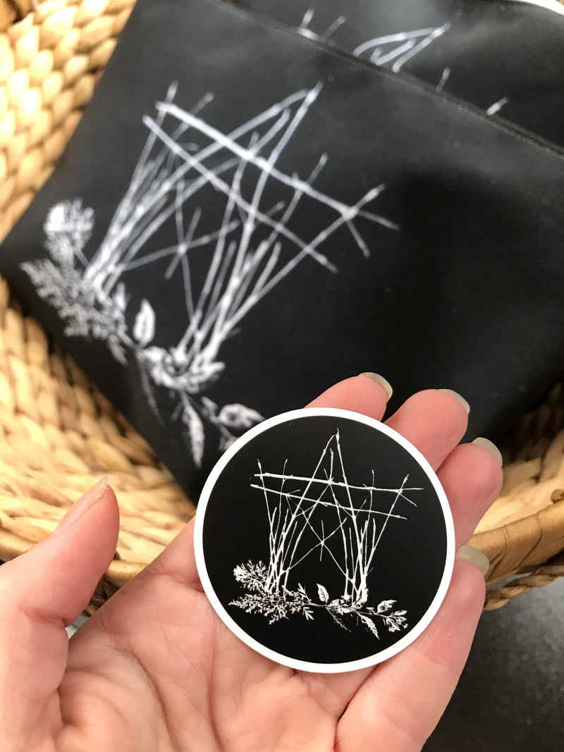 The House Of Twigs - THOT Pentacle Sticker - Keven Craft Rituals