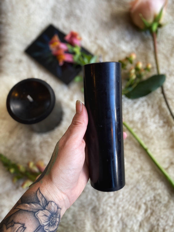 Black Beeswax Pillar Ritual Candles - Keven Craft Rituals