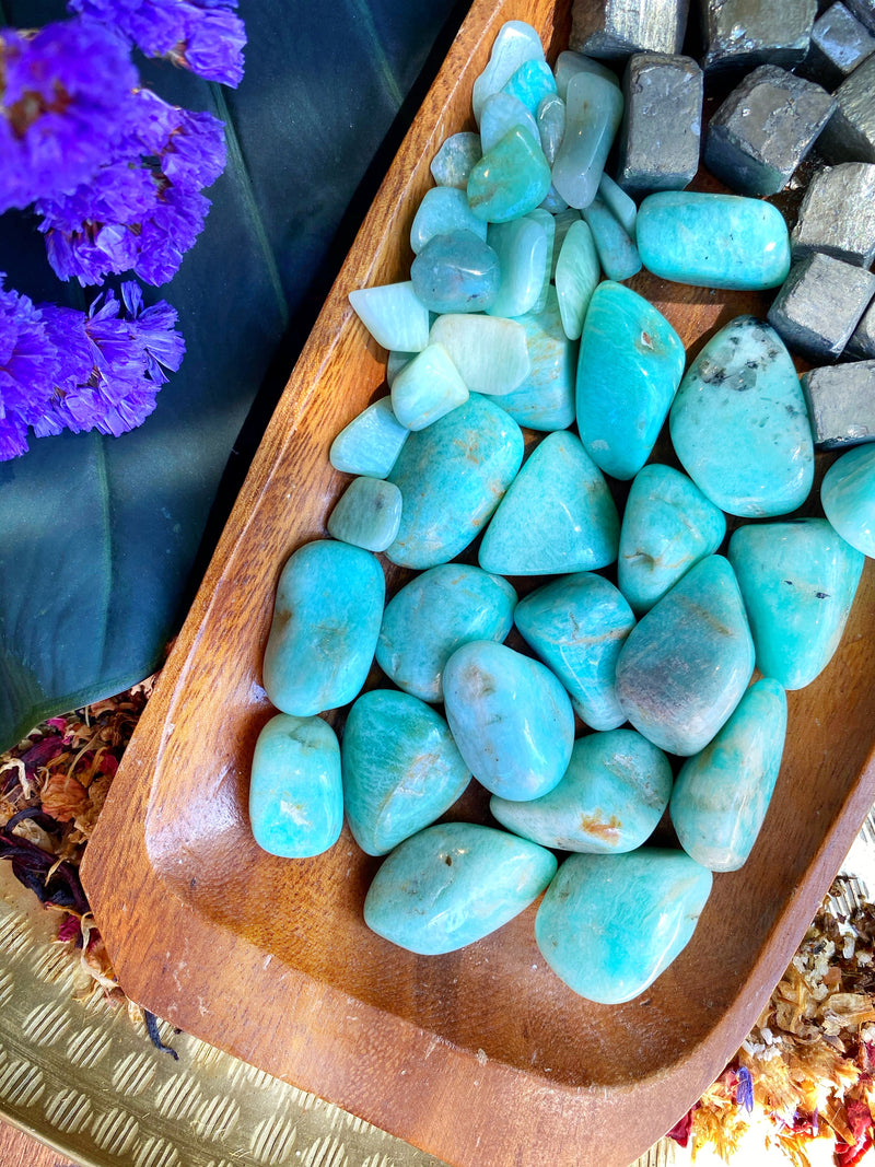 Tumbled Amazonite - Keven Craft Rituals