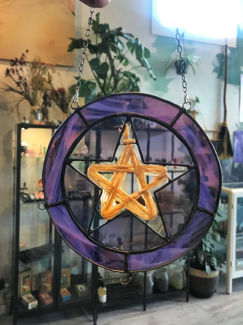 Stained Glass Pentagram or Pentacle - Keven Craft Rituals